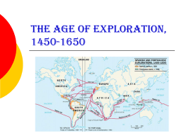 The Age of Exploration - Saint Francis High School
