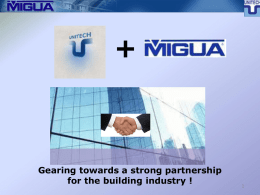 MIGUA Expansion Joint Systems - UNITECH For Building And