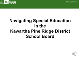 Navigating Special Education in KPR