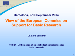Basic research in FP7