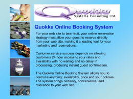 Quokka Systems Consulting: online booking system