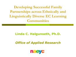 Developing Successful Family Partnerships across