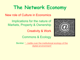 Commons in the Info Economy