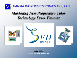 PowerPoint 演示文稿 - Tianma Microelectronics