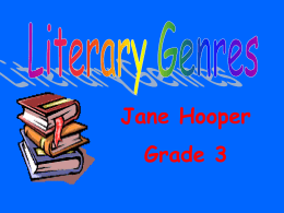 Literary Genres - East Rutherford Middle School