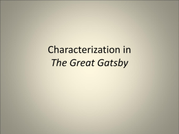 Characterization in The Great Gatsby
