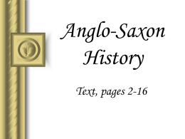 Anglo-Saxon History Text, pages 2-16