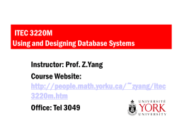 Itec 3220 - Department of Mathematics and Statistics