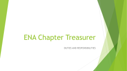 ENA Chapter Treasurer's Guidelines