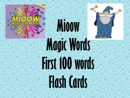 Mioow Magic 100 Words Flash Cards