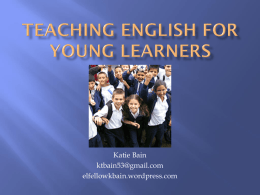 Teaching English for Young Learners