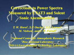 Corrections to Power Spectra Measured by CSAT3 and Solent