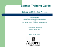 BANNER 5.X TRAINING GUIDE
