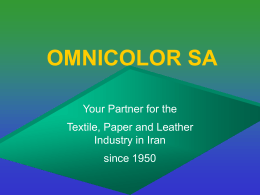 OMNICOLOR SA - Welcome to Controls