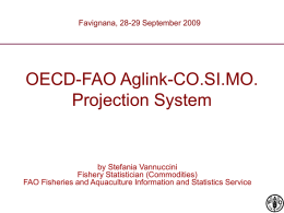 OECD-FAO Aglink-Cosimo Projection System