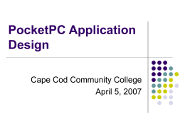 PocketPC Application - CapeCoder