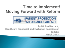 What Now? Moving Forward with Reform