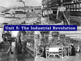 The Industrial Revolution - Pleasantville High School