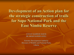 Development of an Action plan for the strategic