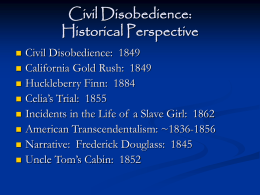 Civil Disobedience Study Questions
