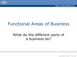 ###Functional Areas of Business###