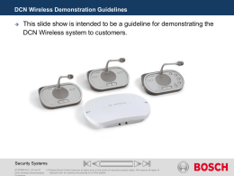DCN Wireless Demonstration