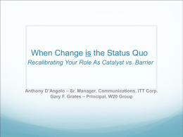 Success at Change Management