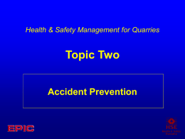 Topic Two - Accident prevention