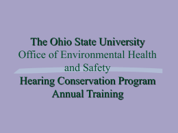 The Ohio State University Hearing Conservation Program