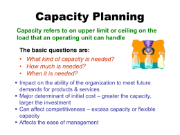 Capacity Planning - TWISTED ILLUSION