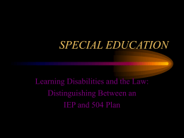 SPECIAL EDUCATION - Maryland Family Law Attorney, Dawn A. …