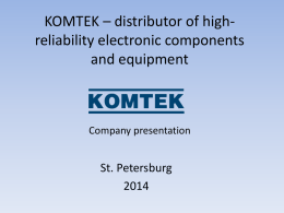 KOMTEK – distributor of high