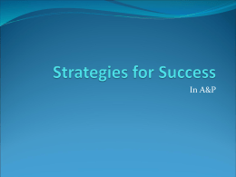 Strategies for Success - Columbus Technical College