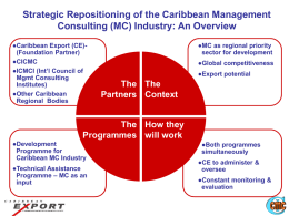 Strategic Repositioning of the Caribbean Management