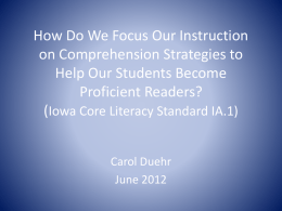 Iowa Core Literacy Standard IA.1