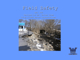 Field Safety Presentation