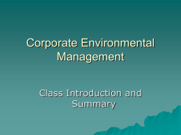 OM 4600 Introduction to Operations Management