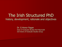 The Irish Structured PhD - the Enhancement Themes website