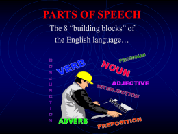parts of speech ppt - Lake–Sumter State College
