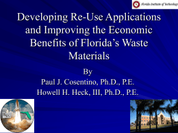 Developing Re-Use Applications and Improving the Economic