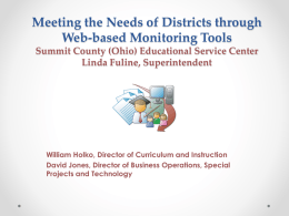 Meeting the Needs of Districts through