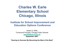 Charles W. Earle Elementary School Chicago, Illinois Area 12