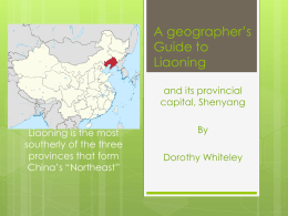 A geographer's Guide to Liaoning
