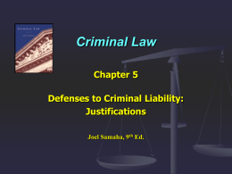Criminal Law - Keith Wilmot