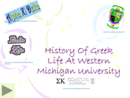 History Of Greek Life At Western Michigan University