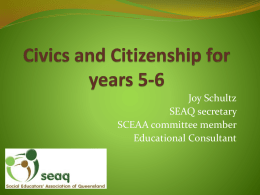 Civics and Citizenship for years 5-6