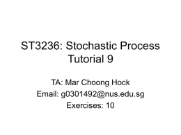 ST3236: Stochastic Process Tutorial