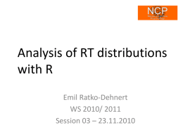 Analysis of RT distributions with R - uni