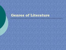 Elements of Literature - Saint Xavier University