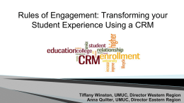 Rules of Engagement: Transforming your Student Experience